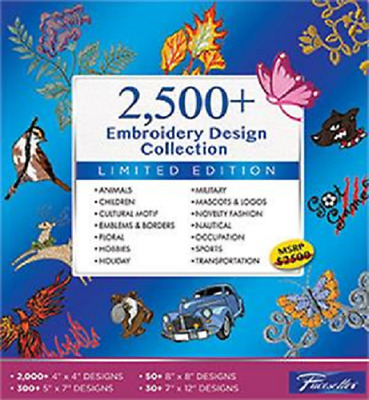 Brother SAEMB2500 SAEMB 2500+ Embroidery Design Software Collection