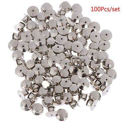 100Pcs/set  LOW PROFILE Locking Pin Backs Keepers for all Pin Post Pins