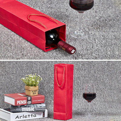 10pcs Wine Bottle Bag High Quality Reusable Wine Tote Bag with Handle for Party
