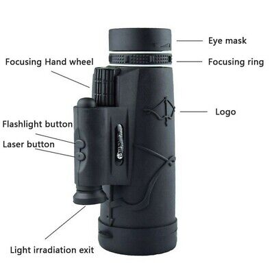 50x60 Monocular 50X Magnification Night Vision Prism Monocular for Hiking