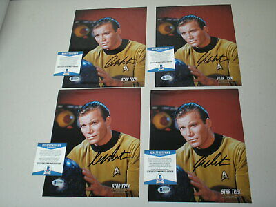 WILLIAM SHATNER Signed 8x10 Photo STAR TREK Captain Kirk Autograph BECKETT COA A
