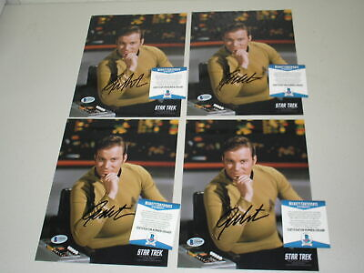 WILLIAM SHATNER Signed 8x10 Photo STAR TREK Captain Kirk Autograph BECKETT COA B