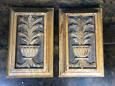 Victorian Antique Decorative Carved Wooden Panels
