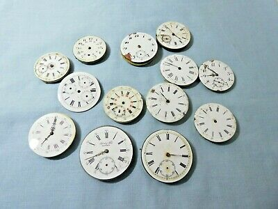 Antique Pocket Watch Collection Movements X 12 + 1 Dial For Spares Vintage