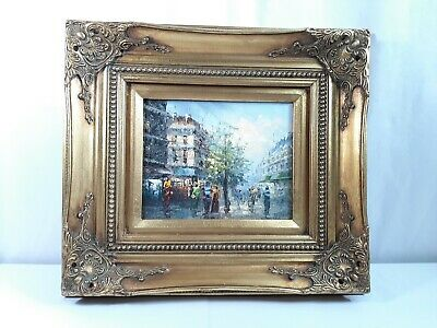 4.5'' Wide Antique Victorian Style Oil Painting Wood Picture Frame with Picture