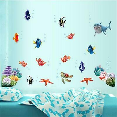 Lifelike Finding Nemo Coral Fish Wall Sticker for Home Decor Ocean Sea Fish