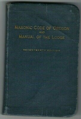 VINTAGE 1948 MASONIC Manual and Code Of the Grand Lodge of