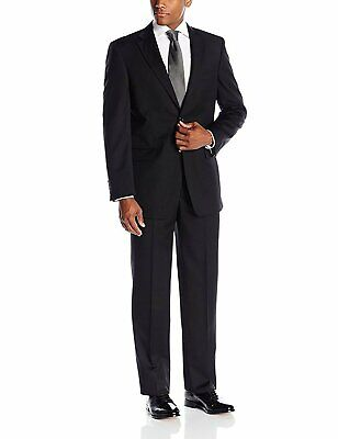 Giorgio Fiorelli Men's Portly Fit Single Breasted Two-Piece Solid Suit Set