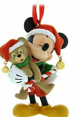 Disney Parks MICKEY MOUSE & DUFFY BEAR Christmas 3D Ornament New w Tags