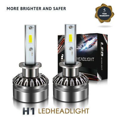 for HYUNDAI Tiburon 2000-01 LED Headlight Kit H1 12000LM 60W High Beam Bulbs DTH