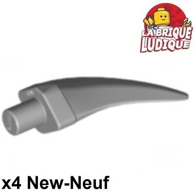 LEGO PART 11089 LIGHT BLUISH GREY LARGE BARB CLAW HORN X 2 NEW