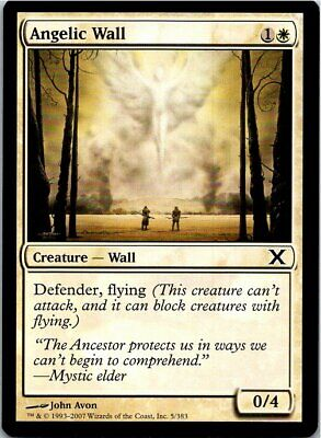 Angelic Wall Magic The Gathering 10th Edition Card Mint X1