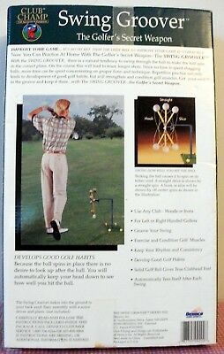 Club Champ SWING GROOVER 'The golfers secret Weapon' Training Aid Tool NEW