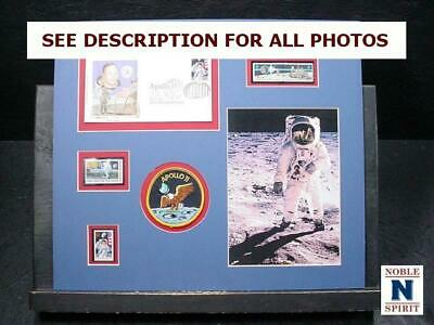 NobleSpirit  NO RESERVE (3970) Apollo 11 Moon Landing Stamp Cover & Patch Board