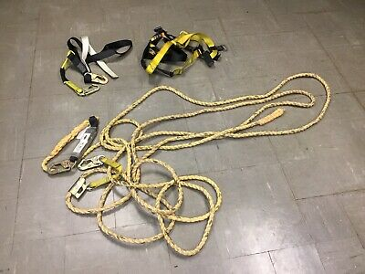Guardian Fall Protection Set Construction Safety Harness Vertical Lifeline 50'