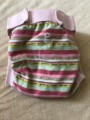 gDiaper size M in Good Vibes print Cloth Diaper + snap in liner.