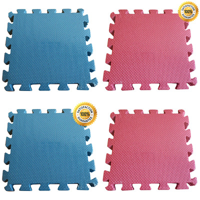 Foam Play Mat with 9 Interlocking Tiles for Babies, Infants, & Kids - BPA Free