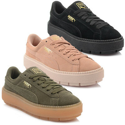 NEUF MODÈLE! CHAUSSURES Puma Plate Forme Trace WN'S Femmes Exclusif Baskets