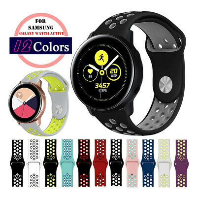 20mm Soft Silicone Sport Wrist Watch Band Strap For Samsung Galaxy Watch Active