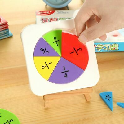 Graphic Fractional Demo Props Panel Children Learning Education Mathematical Aid