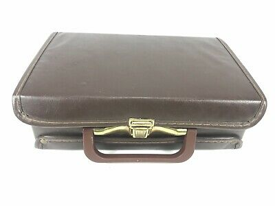 12 Cassette Tape Music Portable Storage Briefcase Case Brown