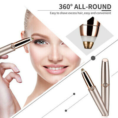 Electric Hair Remover Face Eyebrow Trimmer Brows Razor Facial Painless Epilator