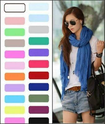 Candy Color Womens Scarves Fashion Solf Scarves Wraps Long Crinkle Shawl 8-001