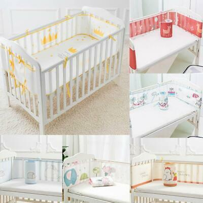 Baby Bumper Cot Crib Enclosure Breathable Air Mesh Protect Pad Nursery Bed 300cm