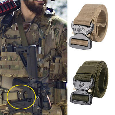 Tactical Heavy Duty Mens Belts Military Stylish Metal Army Pants Belts Nylon xv