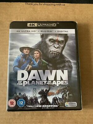 Dawn of the Planet of the Apes (2014) 4k UHD + Blu Ray New & Sealed Gary Oldman