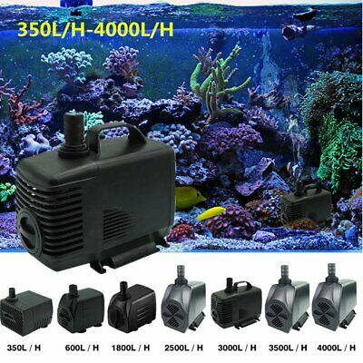 Water Pump Submersible Fish Pond Aquarium Tank Waterfall Fountain Sump Garden