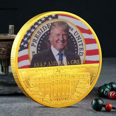 Donald Trump 2020 Keep America Great Commemorative Challenge Coin Eagle Coins D1