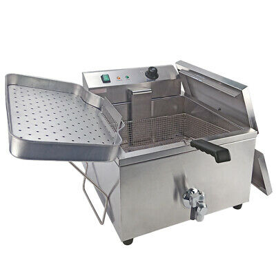 30L Electric Deep Fryer Commercial Fat Chip Large Countertop Stainless Steel 3kw