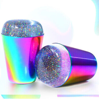 BORN PRETTY Jelly Silicone Nail Art Stamper Holographic Clear Stamping Nail Tool