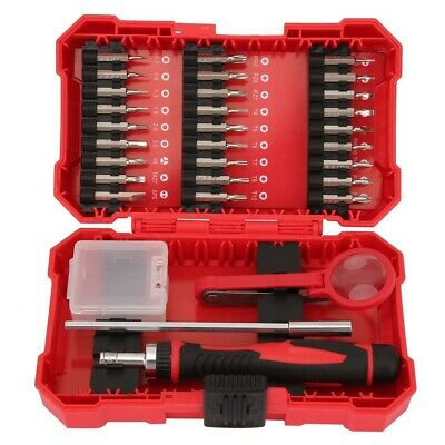 31Pcs Professional Hand Ratchet Screwdriver Bits Set 120mm Rod Repair Tool Kit