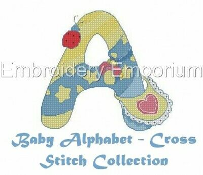 Baby Alphabet - Cross Stitch Collection -Machine Embroidery Designs On Cd Or Usb