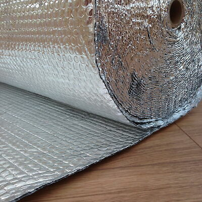 Per Metre 1.2m Wide Double Foil Insulation Aluminium Bubble Shed Loft Attic Van