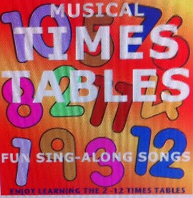 Childrens Singalong Learn Times Tables CD Improve Maths Multiplication Free p&p
