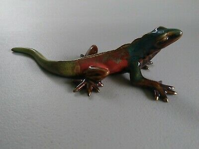"Beautiful Collectible Golden Pond Collection by Green Tree 8""  Ceramic Lizard"