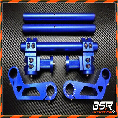 Racing Alu Lenker Kit 22mm Blau Motorrad / Honda Monkey / SkyTeam / Dax / PBR