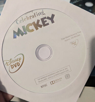 Celebrating Mickey (DVD disc ONLY) dvd mickey shorts disney cartoon classics