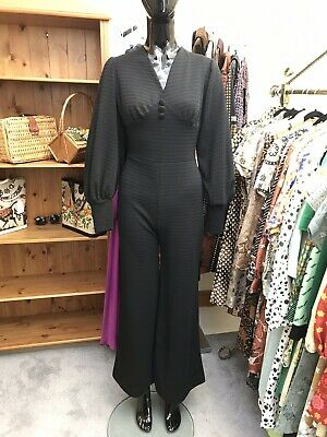 Vintage 1980's Balloon Sleeves Ribbed Jumpsuit