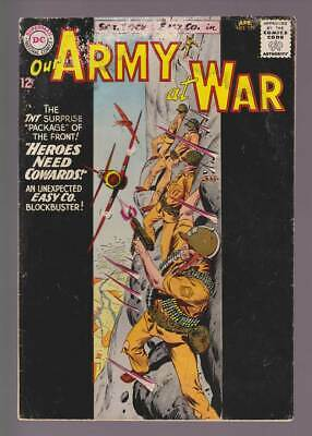 Our Army at War # 129  Heroes Need Cowards !  grade 3.5 scarce book !