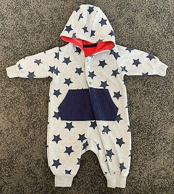 Primark Early Days Star Print Baby grow Romper Outfit Age 0-3 Months