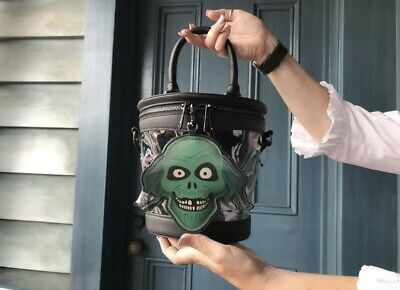 Disney Parks Haunted Mansion 50th Anniversary Hatbox Ghost Loungefly Purse