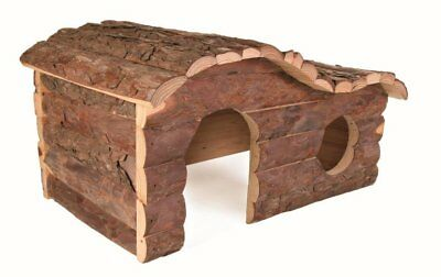 LARGE Natural Wooden Hanna House with Curved Roof for Rats Degus Guinea Pigs