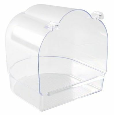 Trixie Clear Plastic Bird Cage Bath Budgie Canary Finch 14 × 15 × 15 cm 5402