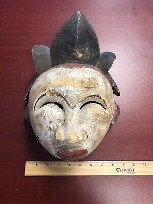 Punu Maiden Spirit Mask Mukudji White Gabon African Art Bought In Paris Estate
