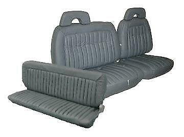 Acme U1006-6758 Front Medium Gray Vinyl Bench Seat Upholstery with Pleated Inserts