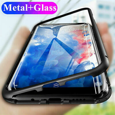 For Samsung Galaxy Ntote 10 Plus Magnetic Adsorption Cover Metal Glass Back Case